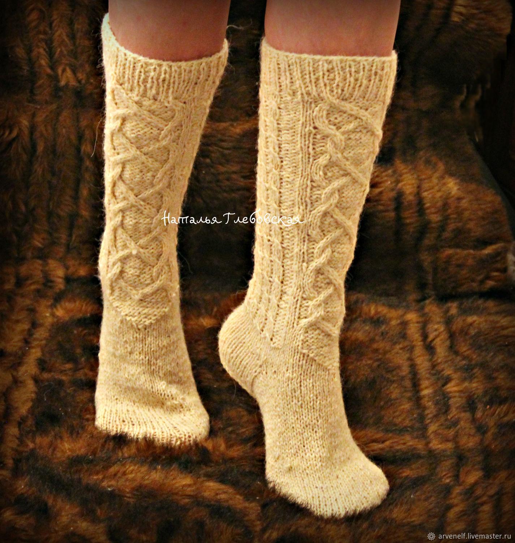 Socks with a faux lace 'Graceful legs', Knee, Orenburg,  Фото №1