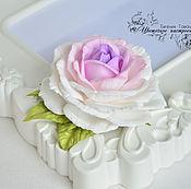 """Украшения ручной работы. Ярмарка Мастеров - ручная работа Заколка с розой """"Сиреневая розочка"""" зажим. Handmade."""