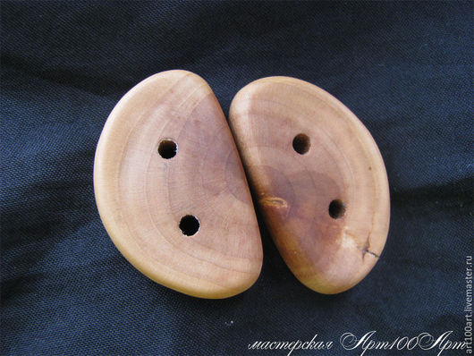 Шитье ручной работы. Ярмарка Мастеров - ручная работа. Купить Пуговицы деревянные 32х20х8мм (пара) яблоня. Handmade. Коричневый, для шитья