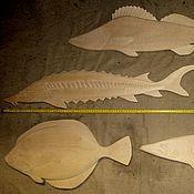Картины и панно ручной работы. Ярмарка Мастеров - ручная работа Большие деревянные рыбы. Заготовки для панно на стену. Handmade.