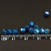 Материалы для творчества ручной работы. Ярмарка Мастеров - ручная работа Агат граненый синий 4 мм. Handmade.