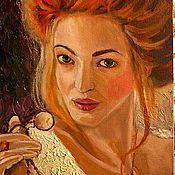Картины и панно ручной работы. Ярмарка Мастеров - ручная работа Портрет маслом. Ведьмочка. Handmade.