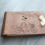 """Именные сувениры ручной работы. Ярмарка Мастеров - ручная работа Фотоальбом """"Винтажный велосипед"""". Handmade."""
