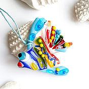 Украшения handmade. Livemaster - original item Fish - fusing glass pendant.Glass jewelry.. Handmade.