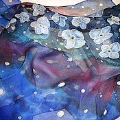 """Аксессуары ручной работы. Ярмарка Мастеров - ручная работа Батик шарф """"Космос"""". Handmade."""