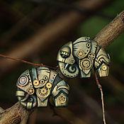 """Подвеска ручной работы. Ярмарка Мастеров - ручная работа Steampunk кулон """"Оливковый слон"""". Handmade."""