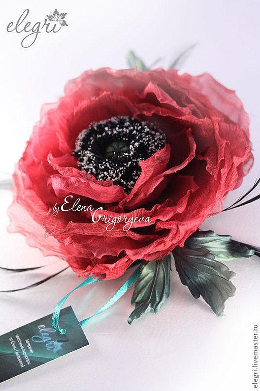 Ярмарка мастеров цветы из ткани мастер класс + видео #12