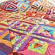 """Текстиль, ковры ручной работы. Заказать Большое лоскутное покрывало """"Карнавал"""" в стиле пэчворк. #МамаШьёт. Ярмарка Мастеров. Одеяло, квилт"""
