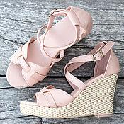 Обувь ручной работы handmade. Livemaster - original item Womens Vicky leather sandals. Size 37 - 37.5. Handmade.