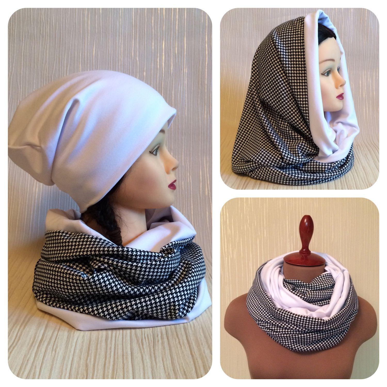 Как сшить шапку и снуд из трикотажа для ребенка