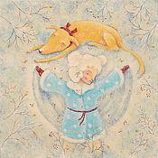 """Картины и панно ручной работы. Ярмарка Мастеров - ручная работа """"Первый Ангел""""  Картина - новогодняя сказка.. Handmade."""