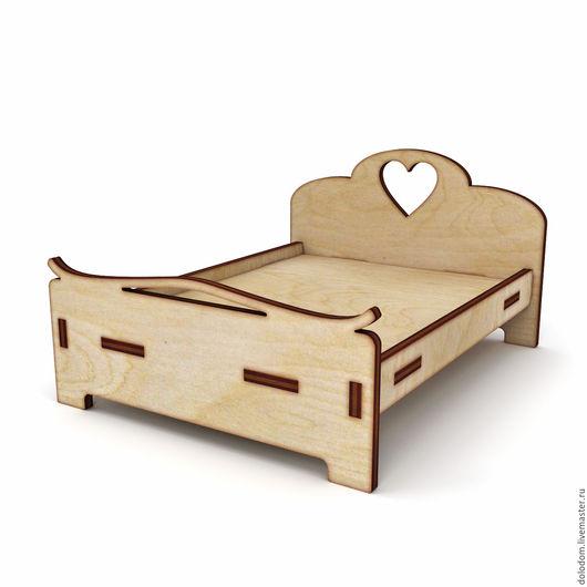 Куклы и игрушки ручной работы. Ярмарка Мастеров - ручная работа. Купить КМ-0000085 Кровать с сердечком. Handmade. Заготовки для творчества