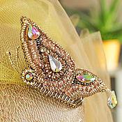Украшения handmade. Livemaster - original item Brooch Butterfly with beading. Handmade.