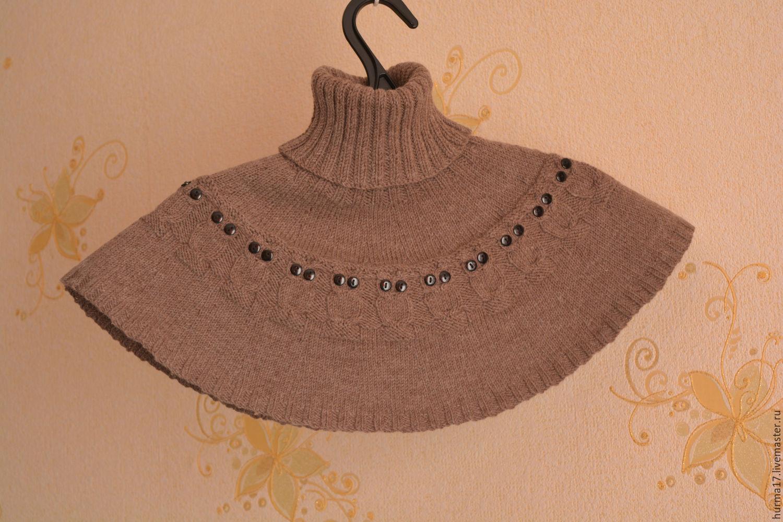 схема вязания спицами манишки для девочки на пуговицах
