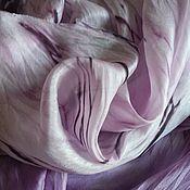 Аксессуары ручной работы. Ярмарка Мастеров - ручная работа Шарф шелковый шибори Шторм на море. Handmade.