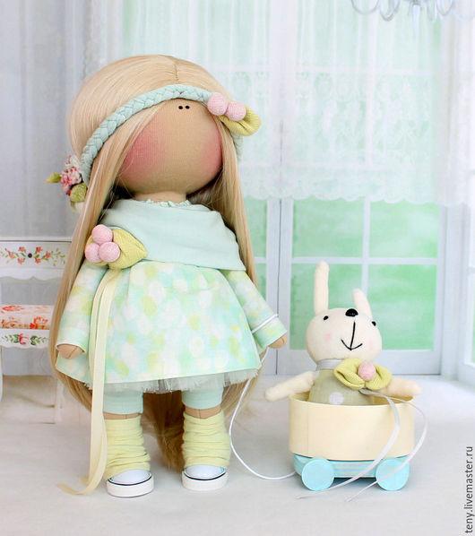 """Коллекционные куклы ручной работы. Ярмарка Мастеров - ручная работа. Купить Текстильная интерьерная  кукла """"Неженка"""". Handmade. Тильда кукла"""