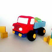 handmade. Livemaster - original item Knitted truck Soft toy truck Red truck. Handmade.