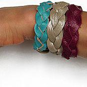 Украшения ручной работы. Ярмарка Мастеров - ручная работа кожаные браслеты-косички. Handmade.