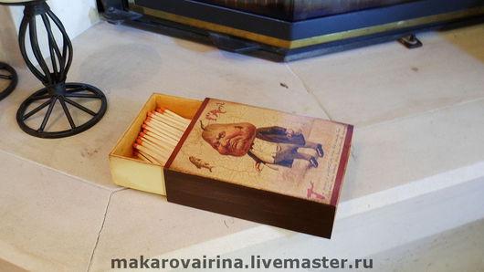 """Элементы интерьера ручной работы. Ярмарка Мастеров - ручная работа. Купить Коробка  спичек для камина """"Дядюшка Груша"""". Handmade."""