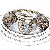 Дизайн и реклама ручной работы. Ярмарка Мастеров - ручная работа Эскиз фонтана. Handmade.