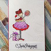 Открытки handmade. Livemaster - original item !The handmade card, the CAS style, for the sweet TOOTH). Handmade.