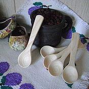 Посуда ручной работы. Ярмарка Мастеров - ручная работа Ложка кедровая чайная. Handmade.