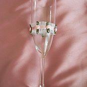 """Свадебный салон ручной работы. Ярмарка Мастеров - ручная работа Свадебные бокалы """"Цветочная поляна"""". Handmade."""
