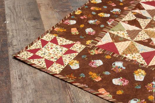 """Текстиль, ковры ручной работы. Ярмарка Мастеров - ручная работа. Купить Лоскутное одеяло  """"Вишня в шоколаде"""". Handmade. Комбинированный"""
