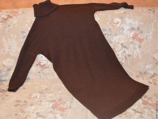 Платья ручной работы. Ярмарка Мастеров - ручная работа. Купить Платье вязаное. Handmade. Однотонный, платье оверсайз, кашемировый джемпер