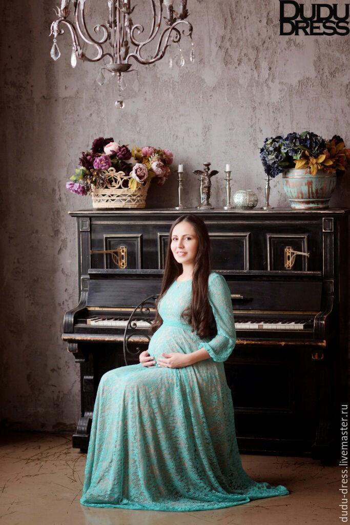 3bedbbb7bcce Dudu- Для будущих и молодых мам ручной работы. Мятное платье для беременных.  Dudu-dress