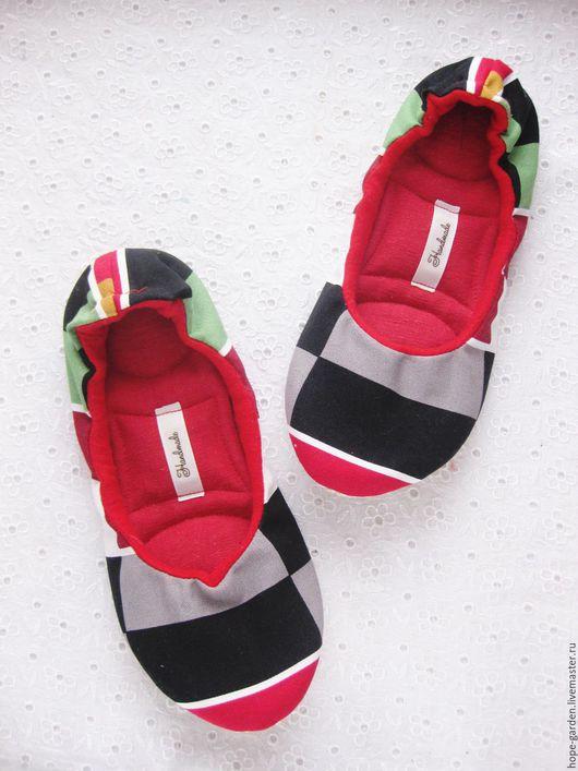 """Обувь ручной работы. Ярмарка Мастеров - ручная работа. Купить Тапочки """"спорт"""" 37-40 , тапочки женские, домашняя обувь, балетки. Handmade."""