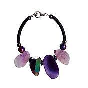 Украшения handmade. Livemaster - original item Bracelet made of large stones of agate, pyrite and hematite. Handmade.