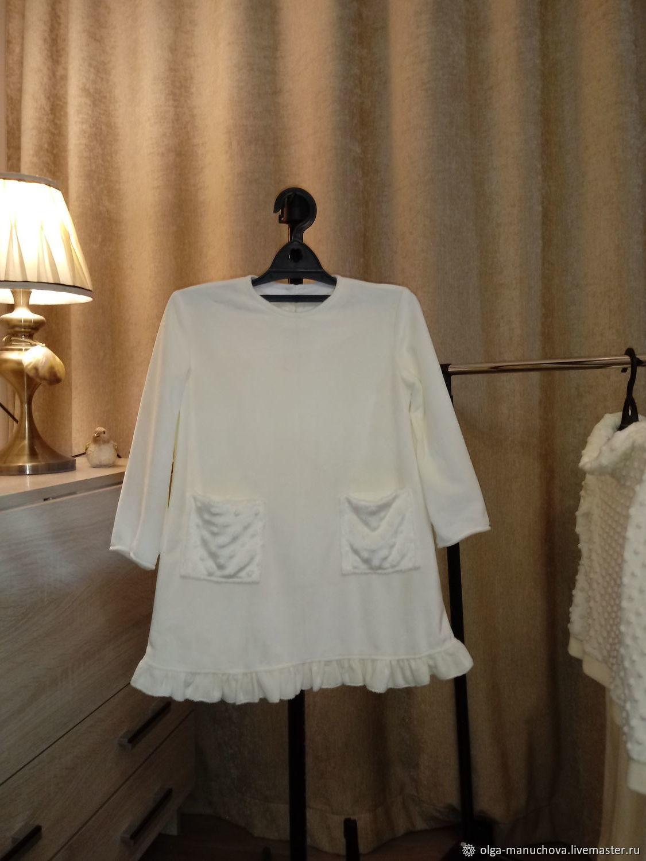 Платье с двумя карманами из плюша-велюра, Платья, Челябинск,  Фото №1