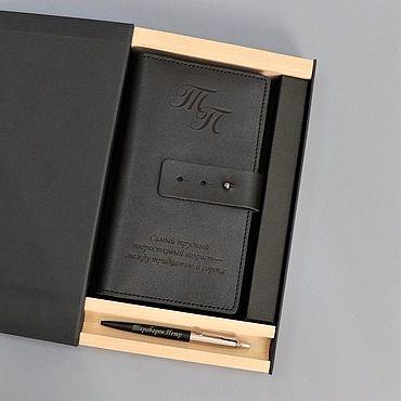 """Сувениры и подарки ручной работы. Ярмарка Мастеров - ручная работа Подарочный набор портмоне и ручка """"Baltar"""". Handmade."""