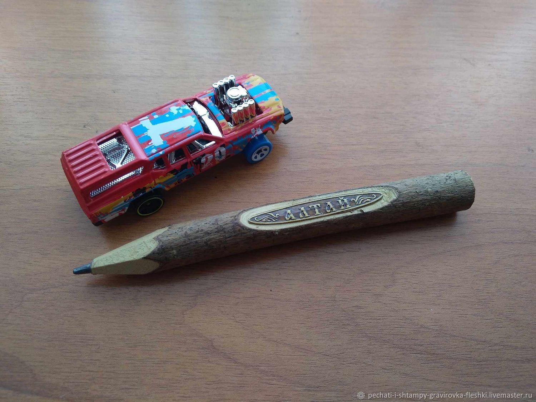 Wooden pencil with engraving, souvenir, individual design, Pencils, Barnaul,  Фото №1