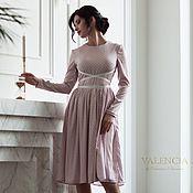 Одежда handmade. Livemaster - original item NEW!  Dress Annette from eco-silk with unique brand belt. Handmade.