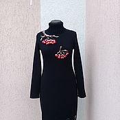 Одежда ручной работы. Ярмарка Мастеров - ручная работа вязаное платье  Гроздья рябины. Handmade.