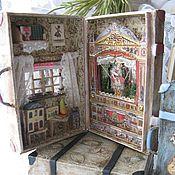 """Куклы и игрушки ручной работы. Ярмарка Мастеров - ручная работа чемоданчик- """"Домашний театр"""". Handmade."""