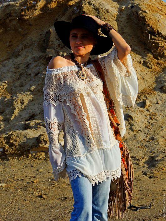 стиль бохо, одежда бохо, женская одежда, бохо стиль одежда, блузка с кружевом, блузка в стиле бохо,