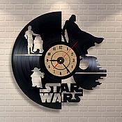Для дома и интерьера handmade. Livemaster - original item Vintl clock Star Wars. Handmade.