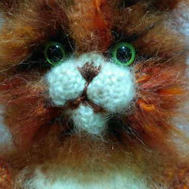 Кот,Левушка вязанная игрушка
