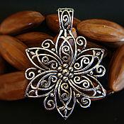 Материалы для творчества handmade. Livemaster - original item Ethnic pendants antique silver 2 1. Handmade.