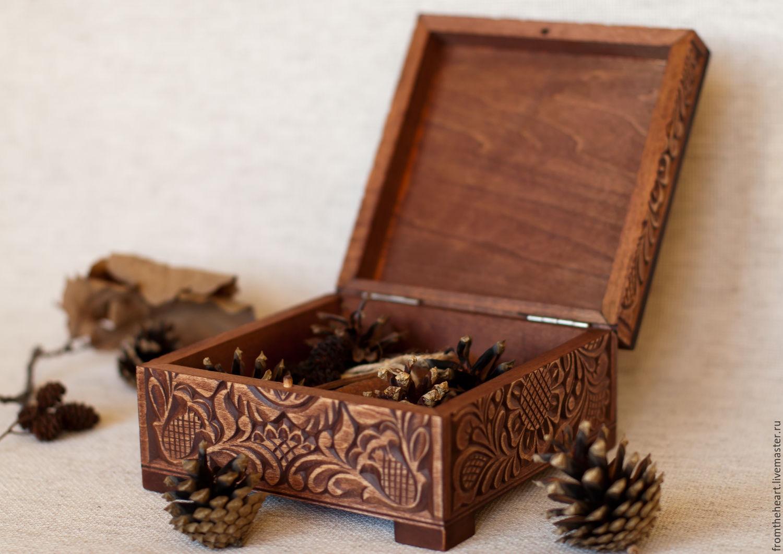 Шкатулки ручной работы по дереву