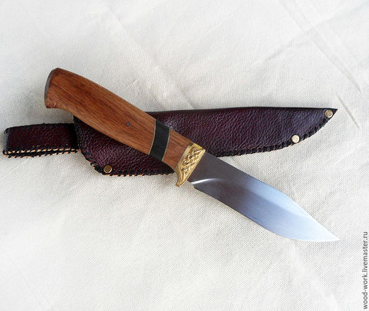 Подарки для мужчин, ручной работы. Ярмарка Мастеров - ручная работа. Купить Нож охотничий ручной работы. Handmade. Нож, кожа