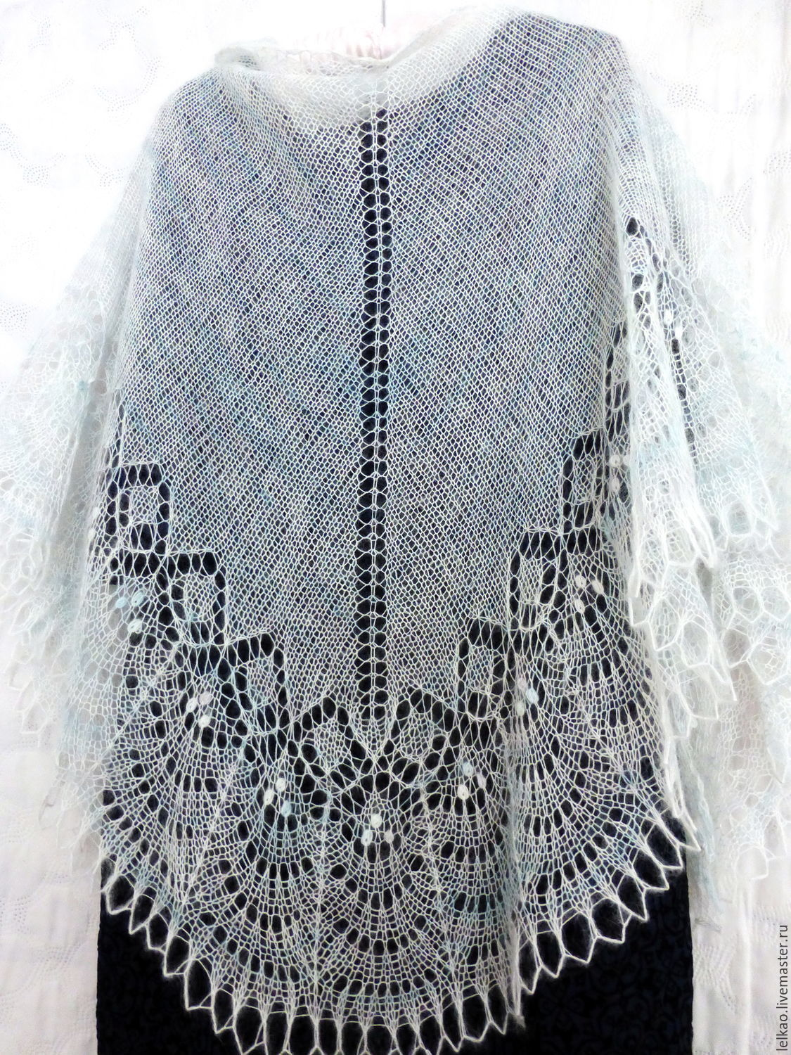 Openwork shawl knit Wedding, white mohair shawl knitting – shop ...