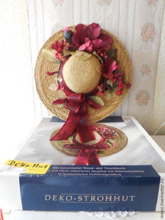 Винтажные предметы интерьера. Ярмарка Мастеров - ручная работа. Купить Декор в стиле Прованс, шляпа соломенная на стену, винтаж. Handmade.