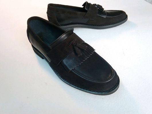 """Обувь ручной работы. Ярмарка Мастеров - ручная работа. Купить Мужские лоферы, модель """"Борода М"""". Handmade. обувь для улицы"""