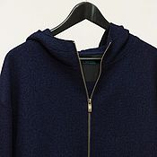 Одежда handmade. Livemaster - original item Long jacket with hood, loden, wool. Handmade.