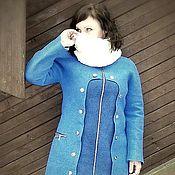 """Одежда ручной работы. Ярмарка Мастеров - ручная работа Пальто валяное """"18 Пуговиц"""". Handmade."""