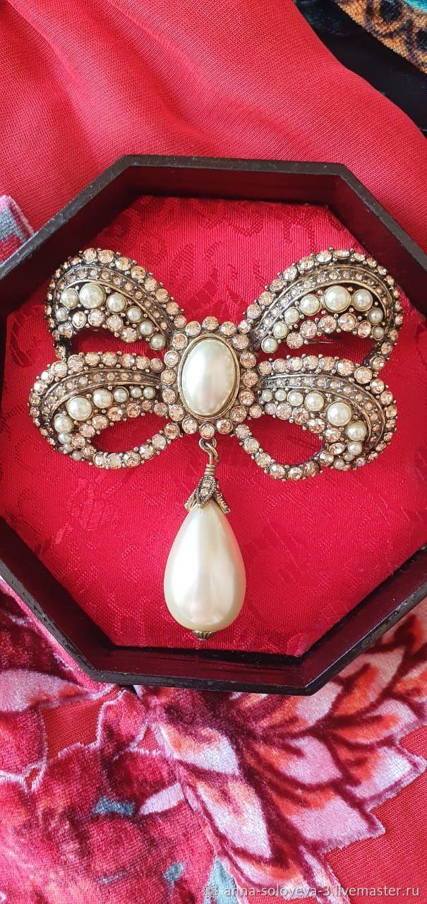 Brooch 'bow flawless' Heidi Daus (Heidi DOS), Vintage brooches, Moscow,  Фото №1
